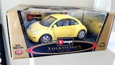 Bburago 1998 Volkswagen New Beetle Car 1:18 Scale Diecast Model Yellow 3302