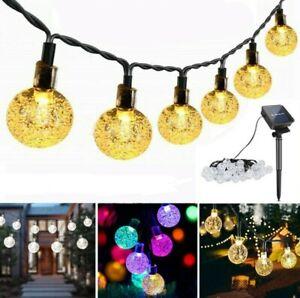 50 LEDs 10M String Lights Outdoor Solar Garden Wedding Party Festoon Ball Bulbs