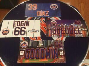 New York Mets game used locker name plates