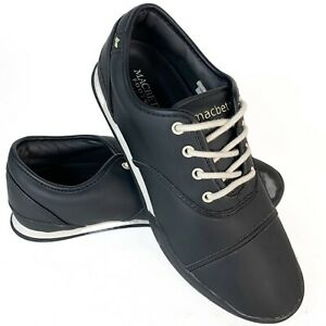 Macbeth Mens Shoes US 8 Black Cement Gatsby Pre Owned VGC Vegan Sent Tracked