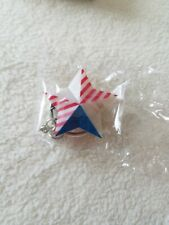 Avon Key Chain American Red White Blue Light Up Star Key Ring With Battery NIB