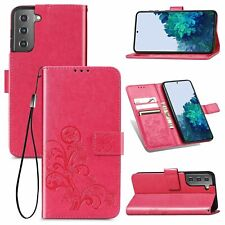 Samsung Galaxy S21 Plus Handyhülle Schutztasche Cover Case Bumper Wallet Pink