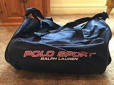 Vtg Polo Sport Ralph Lauren American Flag logo blue gym/athletic duffel bag