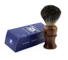 Pure Black Badger Hair Men's Shaving Brush With Pure Wood Handle.