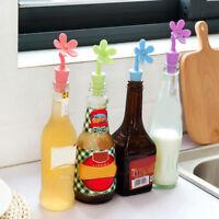1pcs Flowers wine bottle stopper silicone preservation beverage closures*#