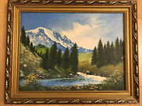 Original Oil Painting Mountain Landscape Signed By Artist 2004 Framed
