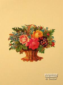 Victorian Floral XI (: Art Print of Vintage Art :) (9 x 12)