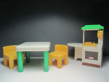 Kitchen Center + Table & 2 Chairs -Vintage Little Tikes Dollhouse Size Furniture