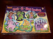 Lauri Toys Dot 2 Dot Lacing Enchanted Kingdom Kids Ages 3 & UP NEW