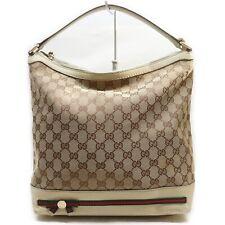 Gucci Hand Bag PrincyLine GG Browns Canvas 1414438