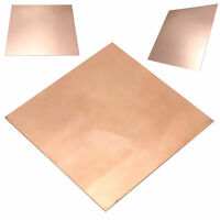 99.9/% Pure Copper Sheet Plate Options Guillotine Cut 0.1mm,0.2mm,0.5mm New