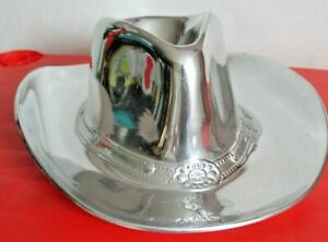 """NEW in BOX Wilton Armetale Metal Cowboy Hat Chip and Dip Server 15""""x12"""" Large"""