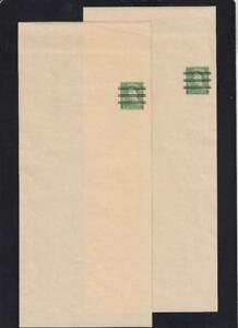 Canada 1954 post bands/wrappers, precancelled QEII 2c Karsh, set of 2 unused