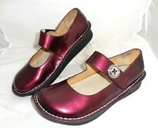 ALEGRIA Paloma Mary Janes SIZE US 8 - 8.5, EU 38 BURGUNDY Patent Leather Shoes