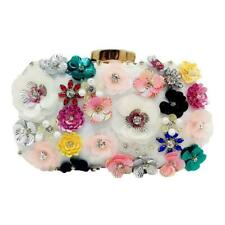 Women Flower Clutch Purse Evening Bags Bridal Wedding Party Handbag Bag Wallet