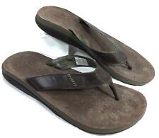 Men's Chaco Cordonazo EcoTread Flip Flops Sandals Brown leather Sz 15