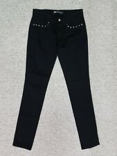 LEVIS 524 SKINNY BLACK Sz 3 JNRS LOW STRETCH JEANS EMBELLISHED ACTL 29X32 NEW J2