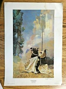 The Black Rose by Jeff Jones Open Edition Print 1977 Signed Archival Press