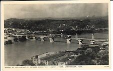 1940's The Market and Walnut Street Bridges in Chattanooga, TN Tennessee PC