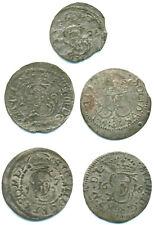 Polen/Litauen/Riga, Sigismund III., Lot v. 5 Silbermünzen ab 1616