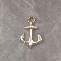 Rare Vintage Tiny Gold Tone Dainty Anchor Nautical Pendant Boat Gift