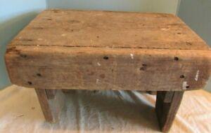 Wooden VINTAGE PRIMITIVE  doll/bear bench /table Bedside Step Stool unpainted