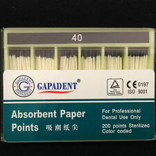 10Pck GAPADEN 02 Size 40# Root canal Absorbent Paper Points professional Fus