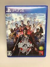 USED PS4 Ryu Ga Gotoku ISHIN! YAKUZA SEGA GAMES  Japan Import