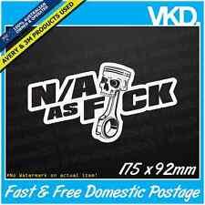 N/A As FCK Sticker/ Decal - Drift Car JDM 4x4 V8 Stance Flush Vtec EG EK ITR FWD