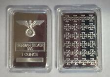 Lot of Twenty-five (25) 1 Ounce German Silver Iron Cross Bars