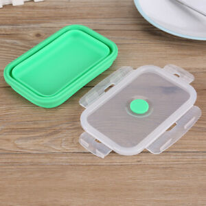 500ml Silicone Foldable Portable Lunchbox Bowl Folding Food Storage Container