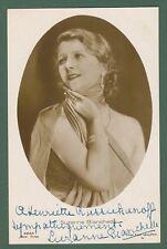 SUSANNE BIANCHETTI (Parigi 1889 - 1936).Attrice cinematografica francese. Dedica