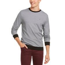 Calvin Klein Mens B/W Cotton Striped Tee T-Shirt XXL BHFO 2638