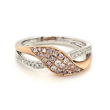 0.33ct Natural Argyle 6pp Fancy Pink Diamonds Engagement Ring 18K Solid Gold