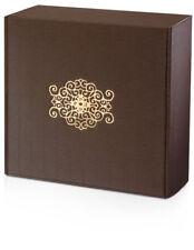 8 x Geschenkbox aus Pappe, 290 x 295 x 95 mm, offene Welle, braun, mit Einlage