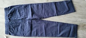 NEW 2 PAIRS SCHOOL UNIFORM NAVY PANTS BOYS XL 14/16 DOUBLE KNEE WONDER NATION