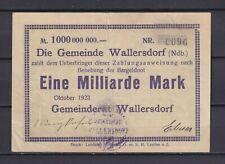 Wallersdorf  -  Gemeinde  -  1 Milliarde Mark