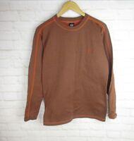 Prana Men's Sweatshirt size Large Orange Super Soft Athletic Crewneck