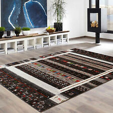 "5'8""x7'9"" Natural Blackamoor Animal Gabbeh Hand Knotted Rugs & Carpet"