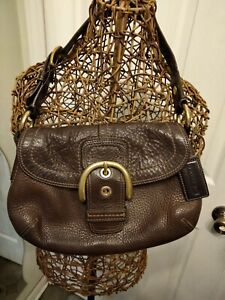 Coach Small Soho Brown Pebbled Leather Hobo Shoulder Bag No. H0820-F11840