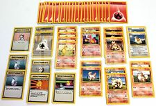 Pokemon 50 CARTE BASE PER MAZZO CHARMANDER CHARMELEON ENERGIA DOPPIA PRIMA SERIE