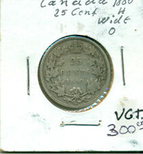 CAN 1880H Wide 0 25 cents VG+