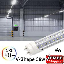 V-Shape 10-1000 PACK LED G13 4FT 4 Foot T8 Tube Light Bulbs Ultra 36W 6500K