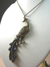 NEW LUCKY BRAND VINTAGE PEACOCK PENDANT PUNK GOLD CHAIN LONG NECKLACE