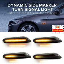 2xDynamic Flowing Side Marker Turn Indicator Light For BMW E90~E93 E60 E87 E46