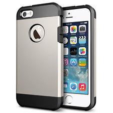 Slim Armor 2-Piece Hybrid Shock Proof Case Cover for Apple iPhone 4s 5c 6 6plus