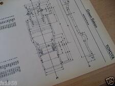 Toyota Crown Serie MS / RS 60 / 70 Maßplan Bodengruppe