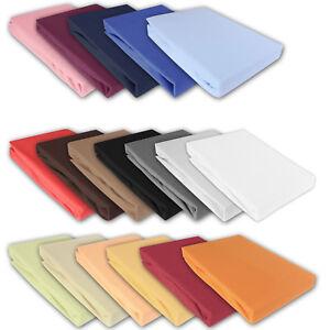 Bettlaken Betttuch Bettuch Spannbettlaken  100% Baumwolle 5 Größen 14 Farben