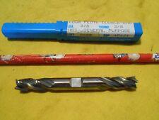 """NEW NIAGARA USA HSS END MILL milling cutter 4 flute 3/8"""" shank x 3/8"""" dia"""