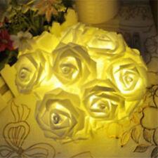 20er LED-Lichterkette Rosen Blumen Blüten Deko Lichter Tischdeko Hochzeit Deko